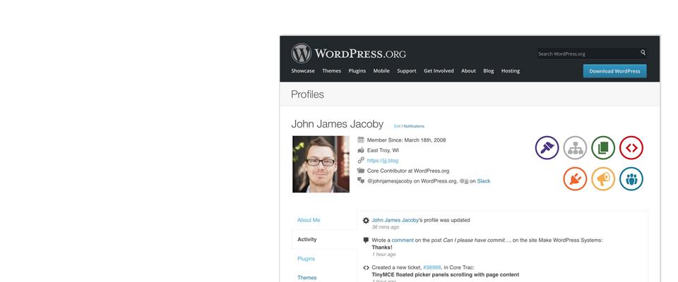 BuddyPress profile