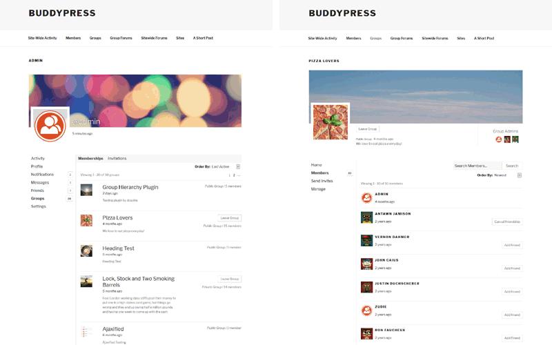 child theme · Search Results · BuddyPress org