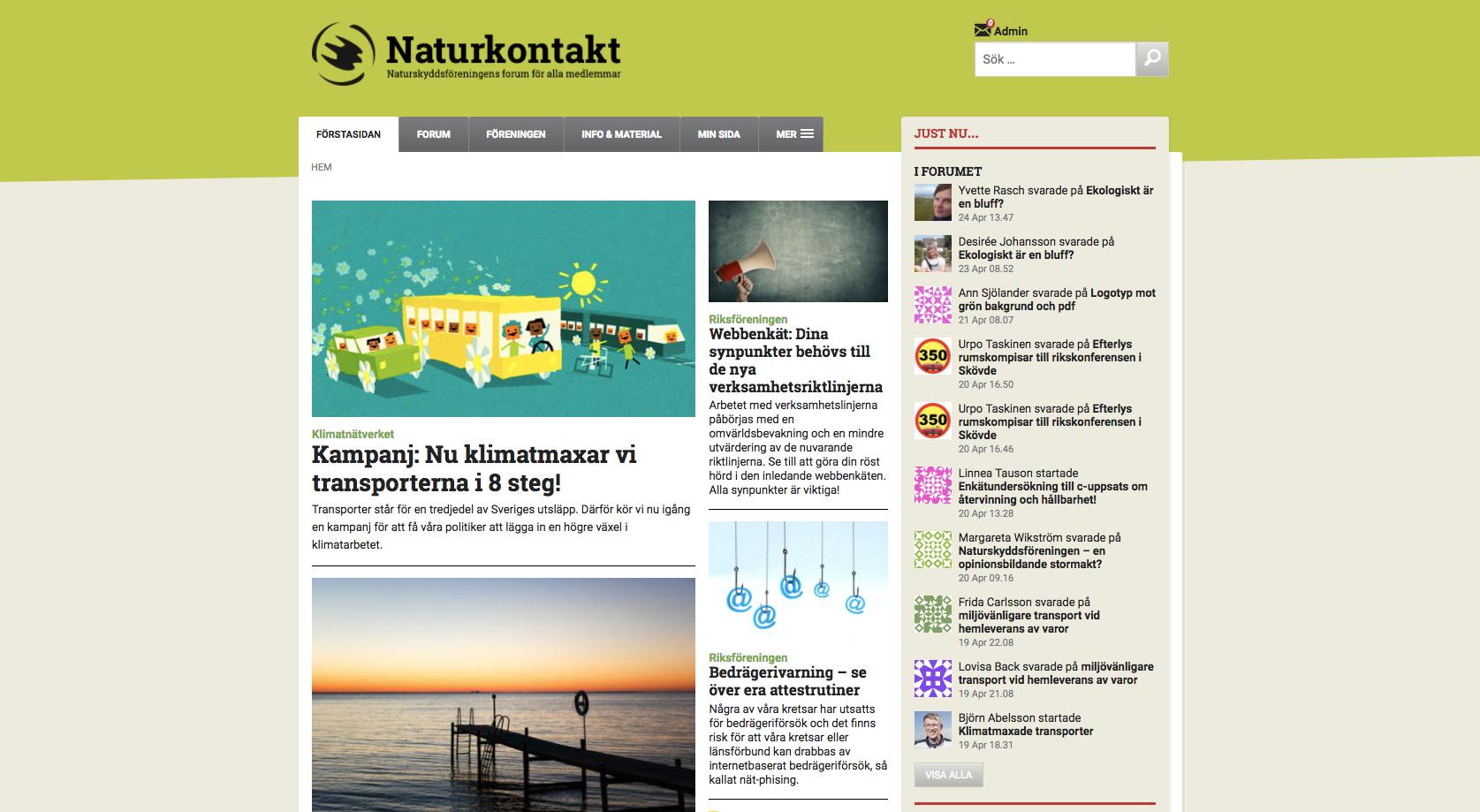 Naturkontakt front page