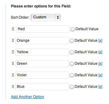Adding more options to my form field.