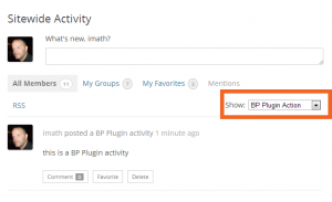 BP Plugin action filter in Activity Directory