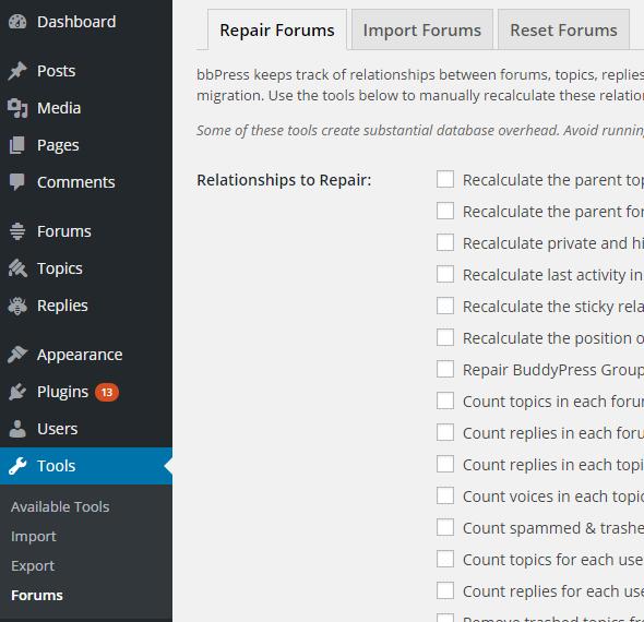 forum tools