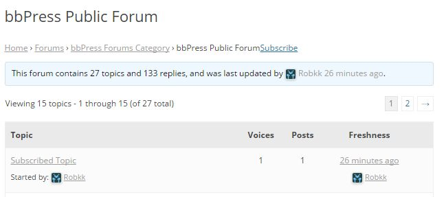 Forum Subscription